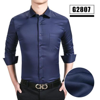 2018佐马仕男士新款弹力免烫商务休闲工装衬衫G2807