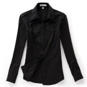 佐馬仕女式黑色斜紋職業襯衫VG01-203
