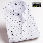 2016佐马仕新款韩版时尚修身印花潮款男士衬衫2016F-15