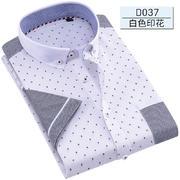 2017年佐马仕男士新款全棉短袖衬衫D037