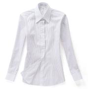 佐马仕女式白底紫条拼接职业衬衫VG01-503