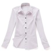 佐马仕女式白底紫条职业衬衫VG01-304