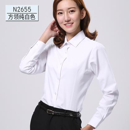 2017佐马仕新款女士方领工装衬衫N2655