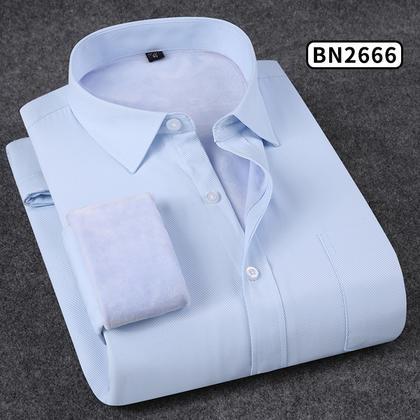 2018佐马仕新款男士纯色商务保暖衬衫BN2666