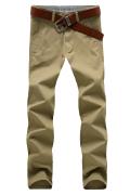 2014春款男士纯棉休闲长裤X3002卡其