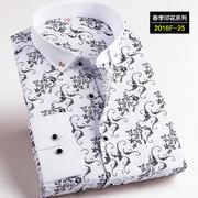 2016佐马仕新款韩版时尚修身印花潮款男士衬衫2016F-25