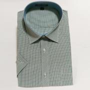 佐马仕新款男士大码全棉格子短袖衬衫D501