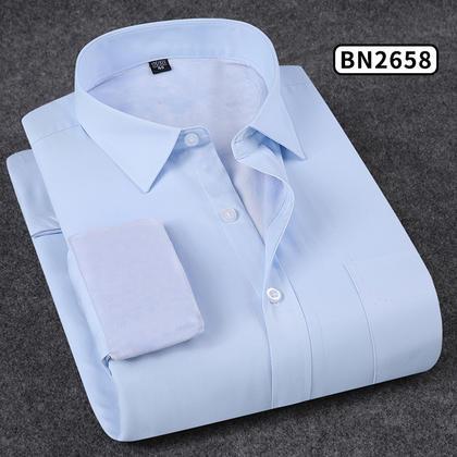 2018佐马仕新款男士纯色商务保暖衬衫BN2658
