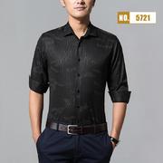 2018佐马仕新款男士棉麻印花长袖衬衫M85721