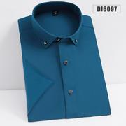 2020新款弹力布钻扣短袖衬衫DJ6097