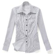 佐马仕女式白底黑条职业衬衫VG01-202