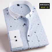 2016佐马仕新款韩版时尚修身印花潮款男士衬衫2016F-10