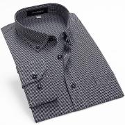 佐馬仕2014夏秋新款男士純棉職業裝格子襯衫SG1205