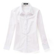 佐馬仕女式白底粉條拼接職業襯衫VG01-204
