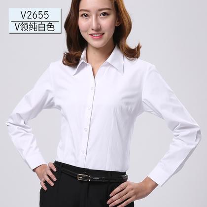 2016佐马仕新款女式长袖工装衬衫V2655