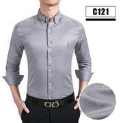 2019佐马仕春夏新款男士休闲职业长袖衬衫C121
