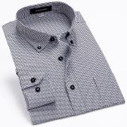 佐马仕2014夏秋新款男士纯棉职业装格子衬衫SG1202
