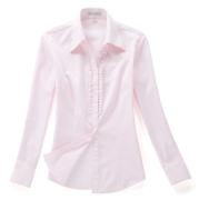 佐馬仕女式粉色花邊職業襯衫VG01-303