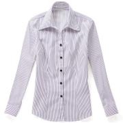 佐马仕女式白底紫条职业衬衫VG01-201