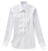 佐马仕女式白底黑条拼接职业衬衫VG01-504