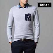2018佐马仕冬季喜欢男士圆领假两件BN658