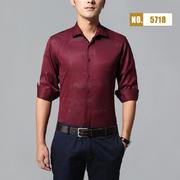 2018佐马仕新款男士棉麻印花长袖衬衫M85718