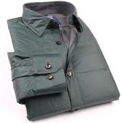 修身韩版格子羽绒衬衫Y83