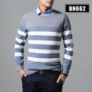 2018佐马仕冬季喜欢男士圆领假两件BN662