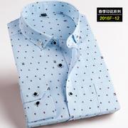 2016佐马仕新款韩版时尚修身印花潮款男士衬衫2016F-12