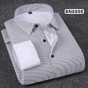 2018佐馬仕新款男士純色商務保暖襯衫BN8808
