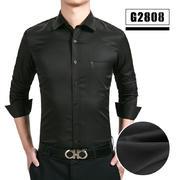 2018佐马仕男士新款弹力免烫商务休闲工装衬衫G2808