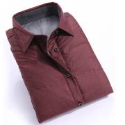 修身韩版格子羽绒衬衫Y85