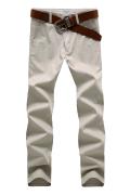 2014春款男士纯棉休闲长裤X3002米白